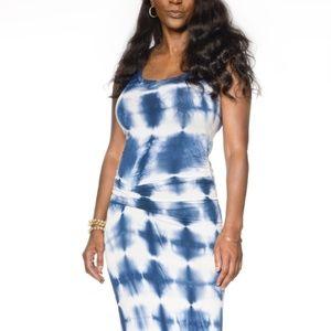 Young Fabulous & Broke Blue & White Knit Maxi